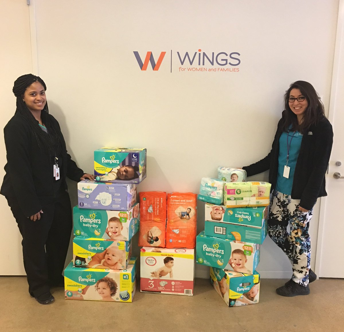 "test Twitter Media - We are grateful to the ""Dream Team"" group for their generous donation of diapers! They are so very beneficial to the first-time young moms we serve, who struggle to afford this necessity. @WBCSouthwest #FightPoverty https://t.co/OJ6WJK2EHx"
