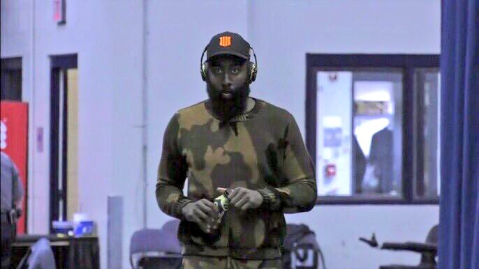 James Harden camp confirmed to me, he was wearing a #BlackOps4 hat at yesterday's game arrival.