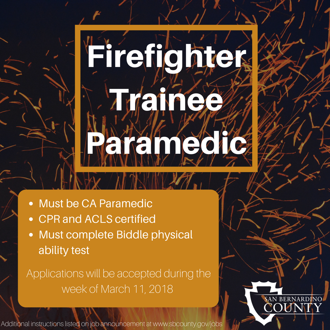 San Bernardino County Hr On Twitter Are You A Ca Paramedic With
