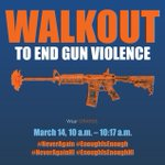 Image for the Tweet beginning: March 14, 10-10:17 a.m., walkout