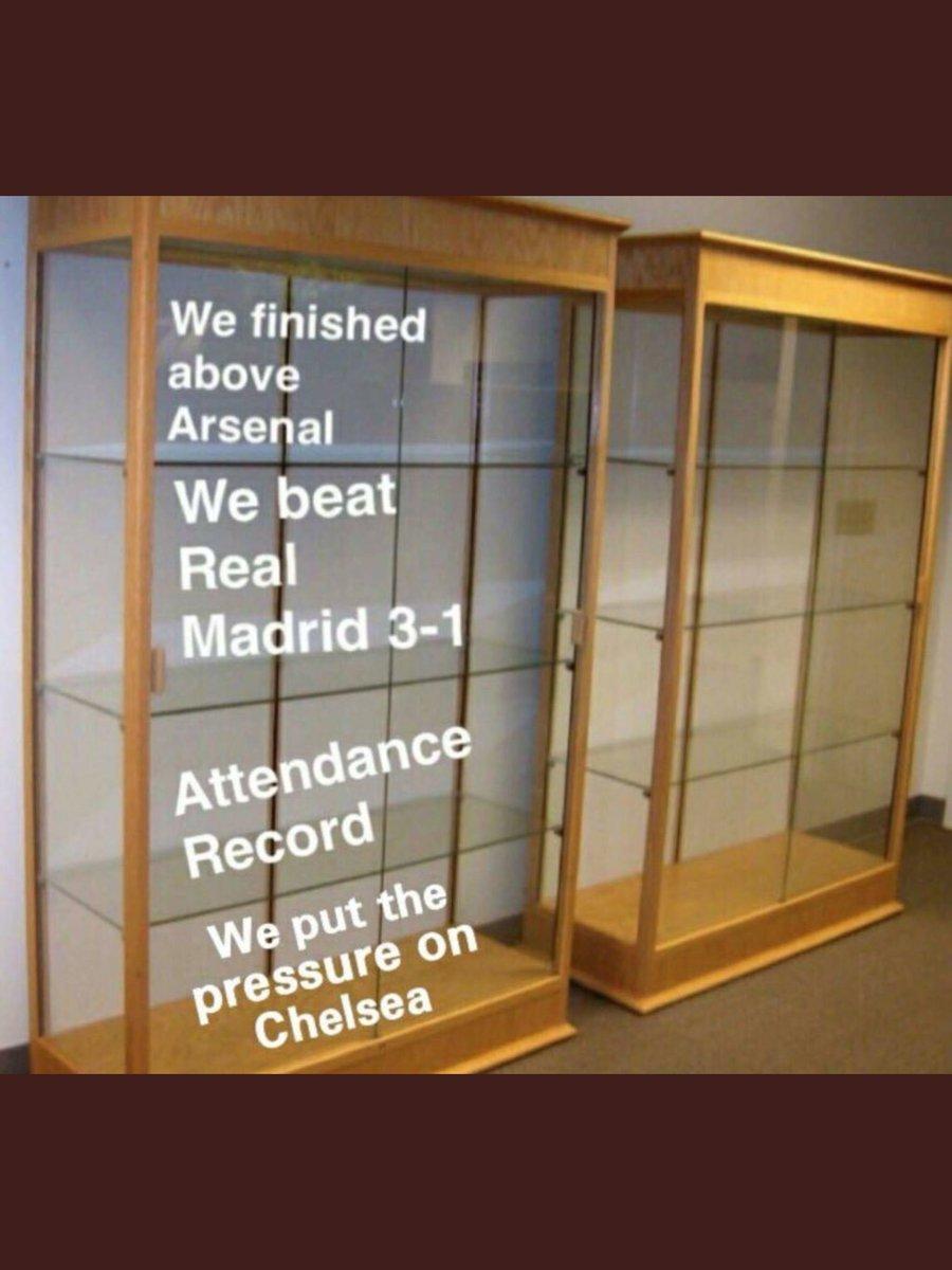 Tottenhams trophy cabinet still looks good though.