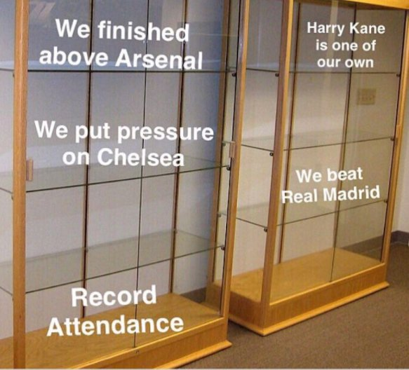 CaughtOffside On Twitter Hows That Spurs Trophy Cabinet Coming Along