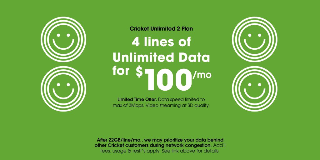 Cricket Wireless On Twitter Our Unlimited 2 Plan Doesn T