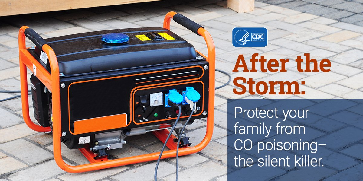 "CDC on Twitter: ""If power is out, DON'T run a generator or gas ..."