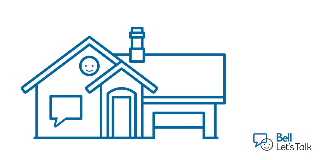 Talking about what's on your mind makes a house feel like a home. RT if you agree. #BellLetsTalk