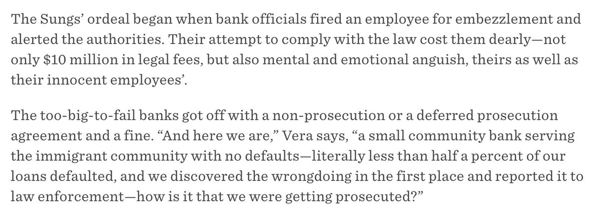Ellen K Pao On Twitter Til The Only Bank Prosecuted For The