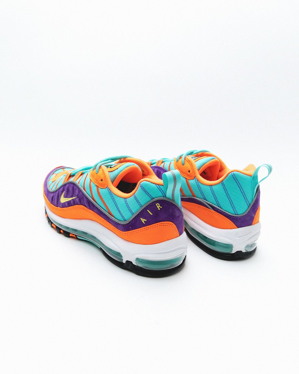 1353f8b56cb05 Nike Air Max 98  Cone   Tour Yellow  releases 3 10 in-store and online at  10am EST. This silhouette celebrates its 20th anniversary with a quick  strike of ...