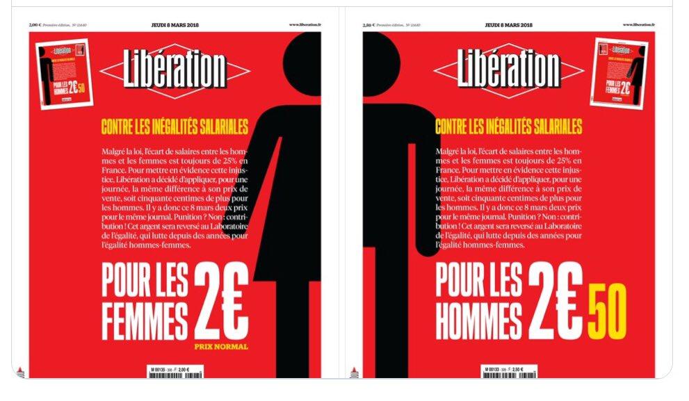 .@libe discrimine-t-il les hommes avec cette opération marketing  ? #8Mars