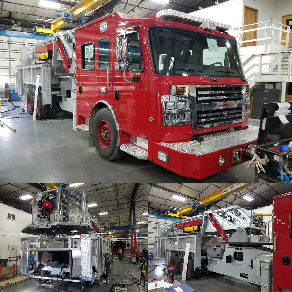 """Springfield Fire on Twitter: """"Construction continues on a new @SGF_Fire ladder truck to serve the @CityofSgf. The new truck is expected to be delivered near ..."""