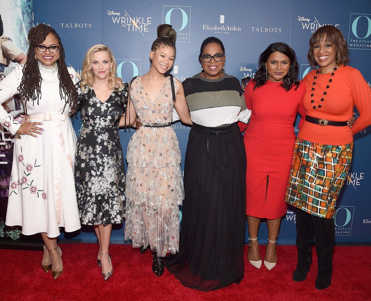 With my warrior women at the #WrinkleInTime @O_Magazine Premiere. 2 days!