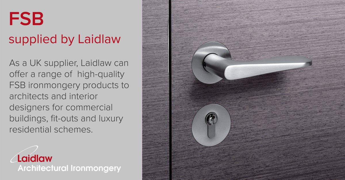 In September Laidlaw signed a partnership deal with German-based #FSB now a fully-fledged product offering we wanted to remind you that we can specify and ... & Laidlaw UK (@laidlaw_uk) | Twitter