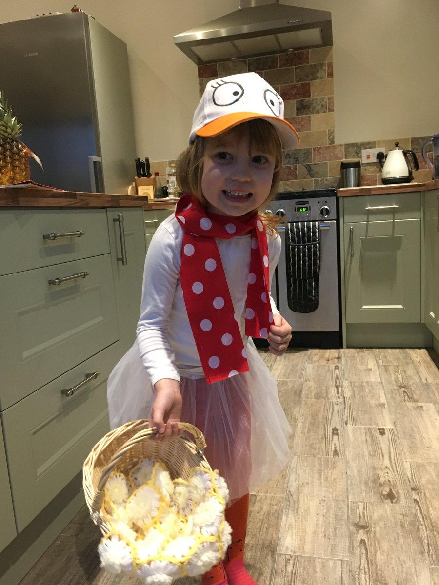Following last week's fixture being snowed off here's Daisy (aged 5) dressed as Lucie Goose by @prodnose and @PippaCurnick for #worldbookday.