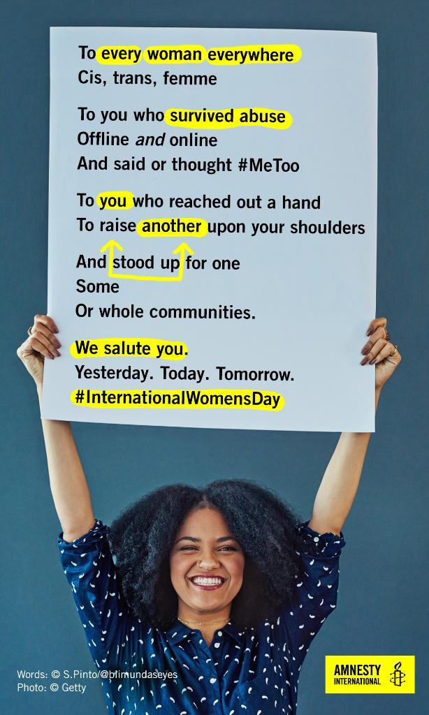 #InternationalWomensDay. It's here.  It's now.  📣 ✊🏾 ✊🏿 ✊🏽