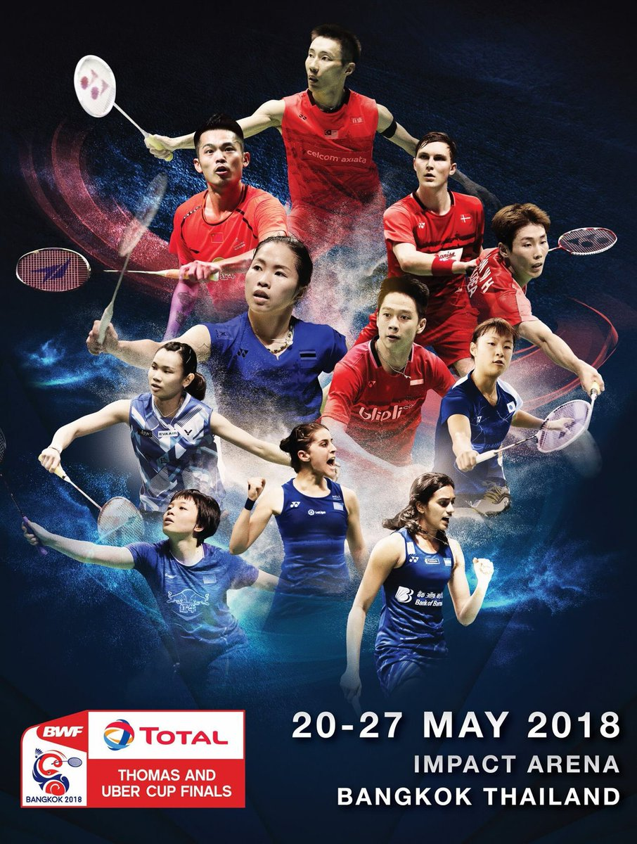 Badminton Thailand On Twitter Total Bwf Thomas And Uber Cup Finals Bangkok 2018 Thailand Tickets On Sale 9 March 2018 At Thai Ticket Major Let S Cheer The World Badminton Top Players Bwf