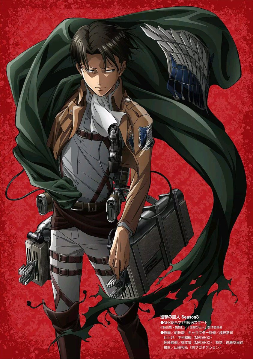 Attack on Titan Season 3 Levi Poster