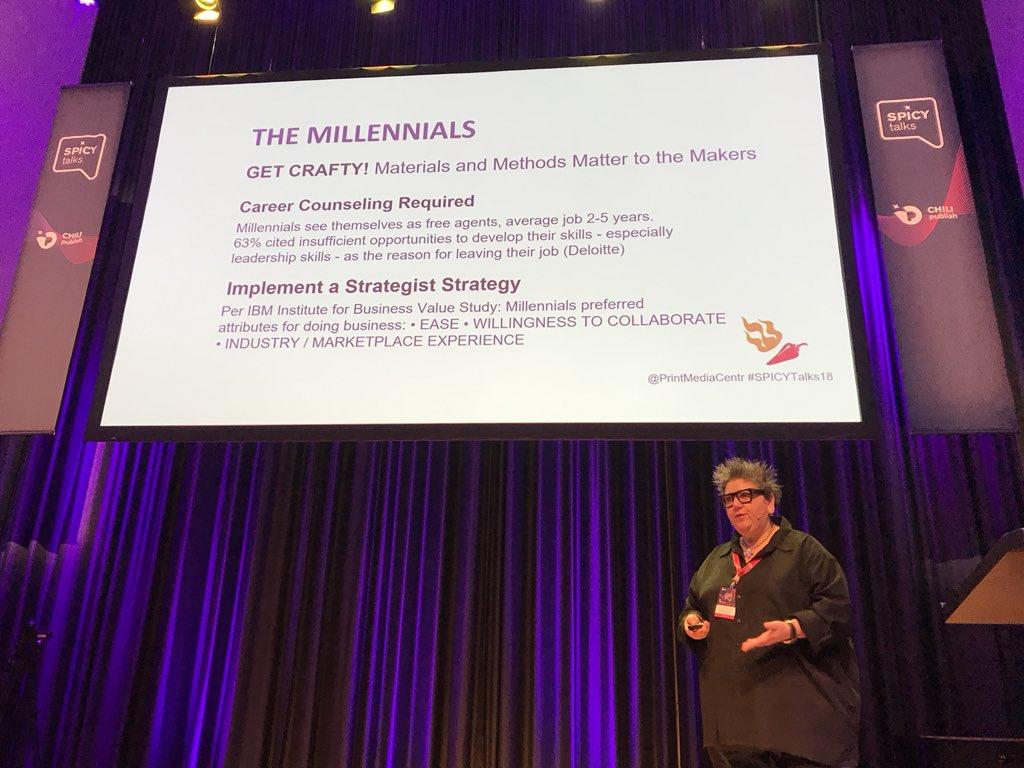 Generational Marketing Matters! #SPICYtalks18 w/ @PrintMediaCentr Be a #strategist! https://t.co/k2vqJWSbAx