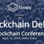 Image for the Tweet beginning: Stratis presents Blockchain Delhi 2018
