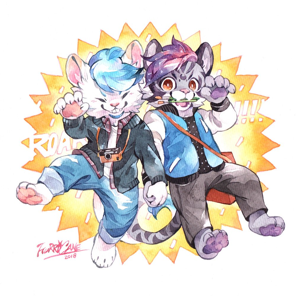 Commission for @pascaldexion , with his mate @SKT_WLion 😋