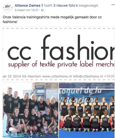 432898301 ccfashions.nl We also delivered these printed shirts for the hockey.   ccfashions  hockeyshirts  alliance  alliancedames1  wemaketextile   hockeyclothing ...