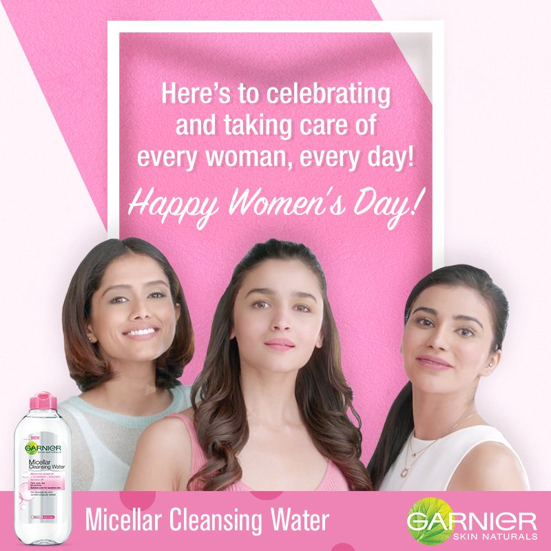 Here's sending our love to all the women in the world. Happy Women's Day! #InternationalWomensDay #Micellar #GarnierMicellarWater #Micellarcleansingwater https://t.co/kbki1CRXWi