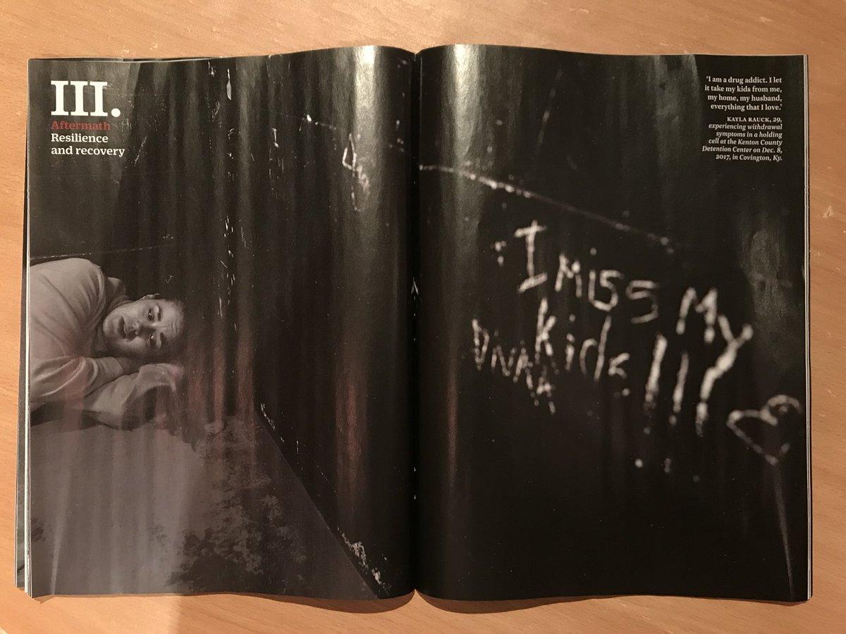 наконец домой пришёл выпуск TIME, целиком посвящённый фоторепортажу Нахтвея об эпидемии опиодной зависимости в США