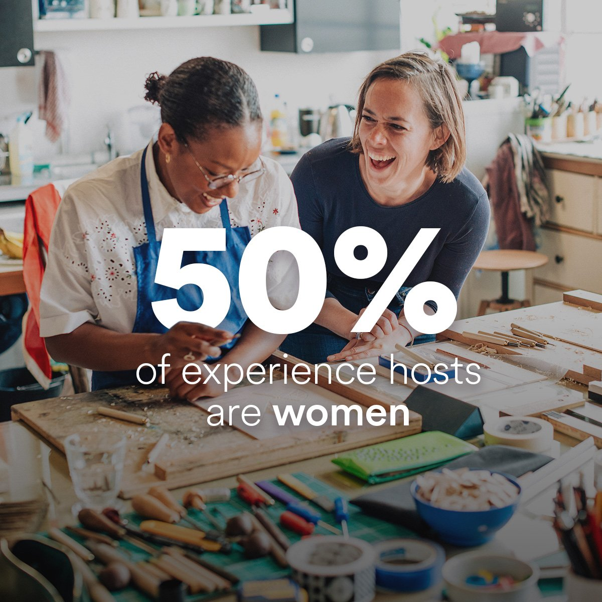 Airbnb On Twitter Among Experience Hosts 50 Are Women And 55