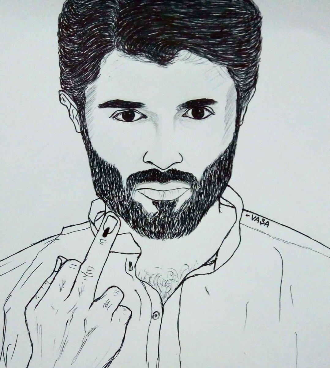 Vijay Devarakonda Drawing Easy