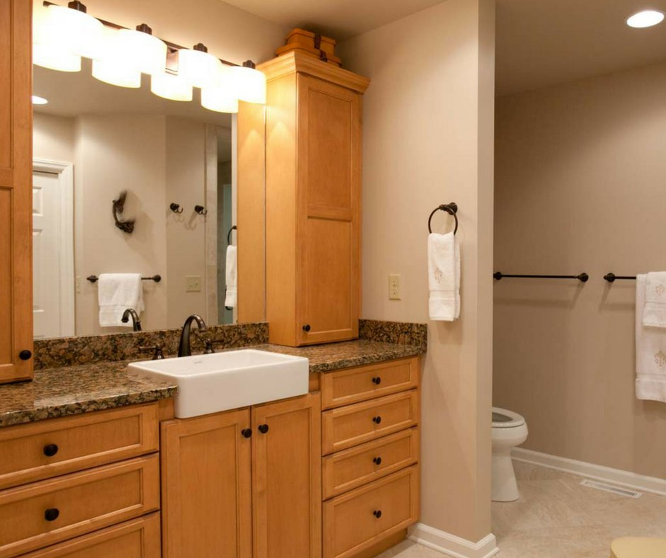 Accommodate Everyoneu0027s Needs With Multiple Fixtures, Cabinet Space, U0026 Great  Lighting! Start The Process: Http://bit.ly/2miRjRb #Design #Bathroom  #Comfort ...