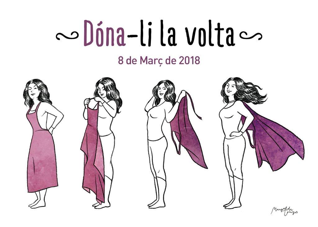 Desitjant que arribi el dia on no faci falta reivindicar el dia de la dona!! 💪🏻💪🏻 💜 #8deMarzo #8MVagaFeminista #DiaInternacionalDeLaDona