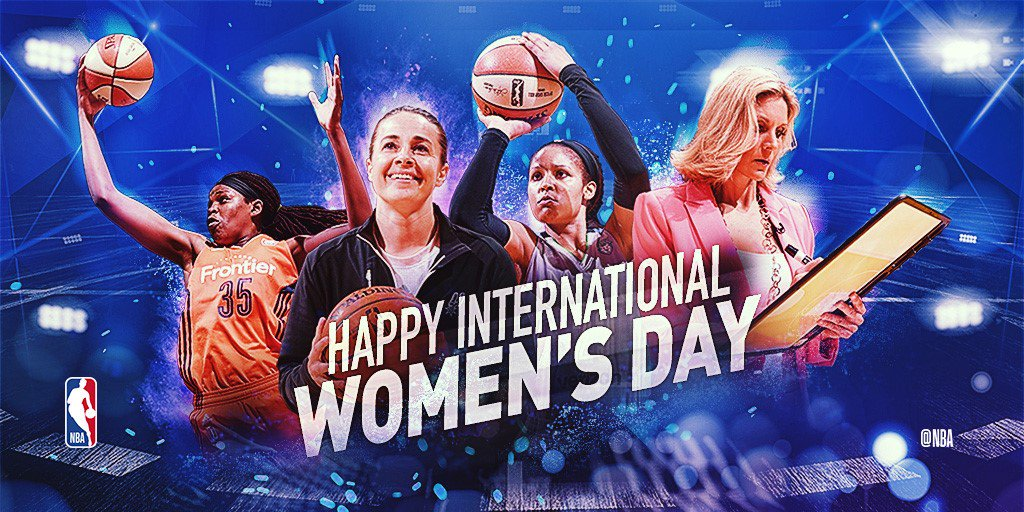 Today we celebrate International Women's Day!   #NBAVoices #IWD2018