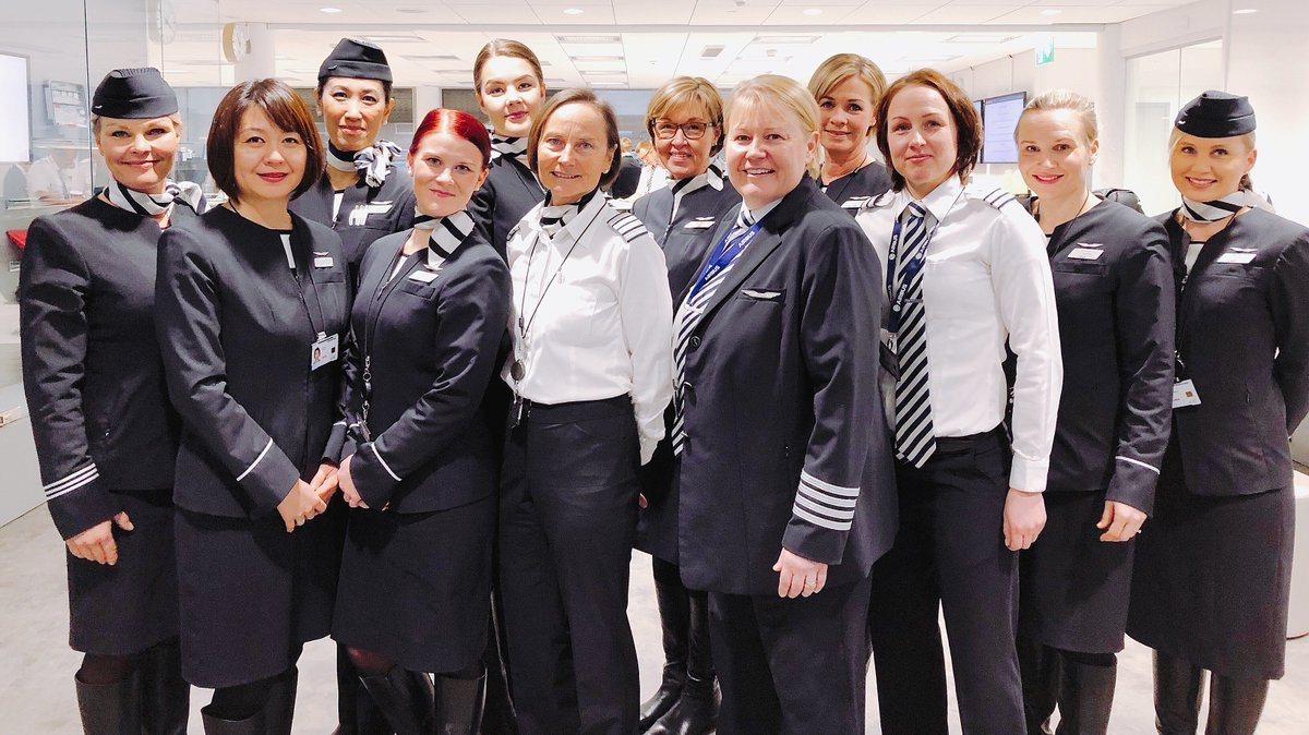 Happy International Women's Day! Our all female crew is flying today AY073 to Narita, Tokyo. #IWD2018 #womensday #feelfinnair @FinnairJapan