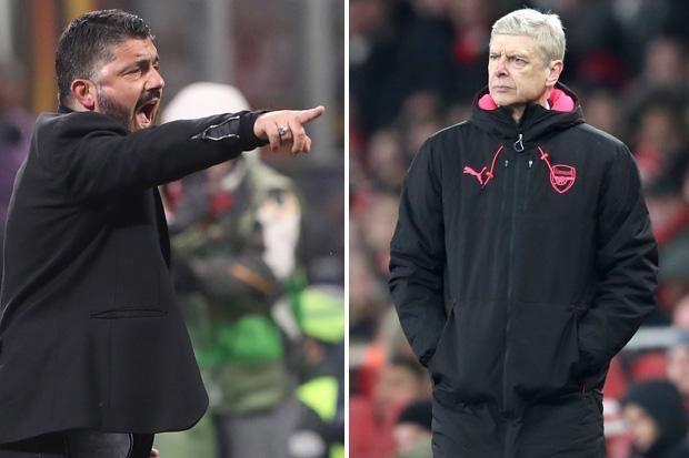 """c598b22ea Wenger on giving Gattuso advice: """"He's doing very well at the moment. I'm  not doing well, so I'm the guy who can get advice from him!"""