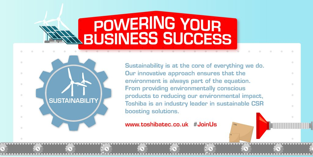 RT @ToshibaTEC_UK Sales Director, @CarlDayUK, concludes his blog series of the Authorised Business Partner initiative by looking at our sustainability credentials. Read more: https://t.co/KZ5yFpvIhn