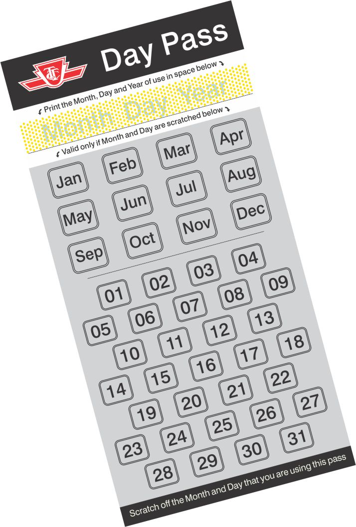 Image result for TTC day pass