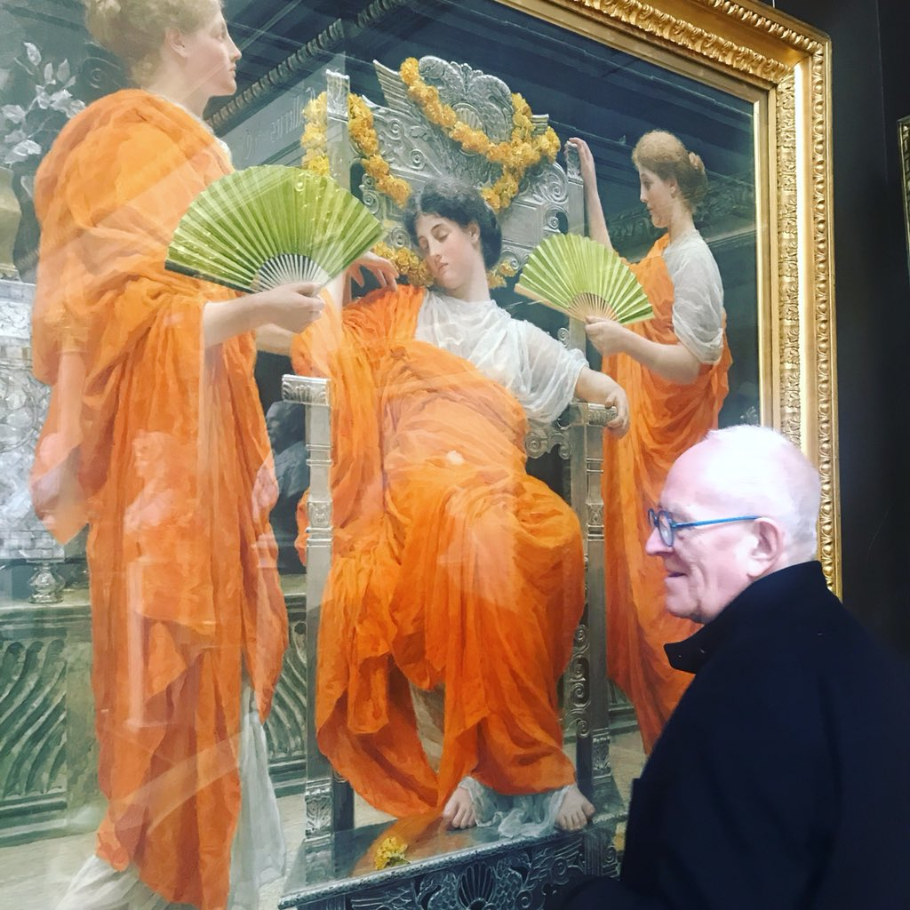 Crab Studio On Twitter Inspecting The Famous Shade Of Orange By Albert Moore At Rus Cotes Museum Inspiredaub Aub Innovation