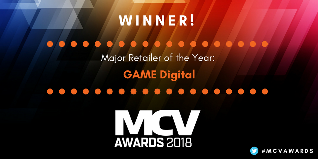 Well done to GAME Digital who are the winners of Major Retailer of the Year at the #MCVAwards Fantastic work! @GAMEDigital https://t.co/4Xjv1z0JfY