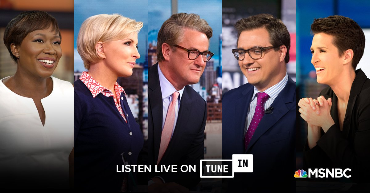 Get ahead of the news day while sipping your cup of @Morning_Joe.  @MSNBC is streaming 24/7 on @tunein. Listen anytime for sharp journalism and clear context from your favorite hosts.  https://t.co/uJCYq7s83U