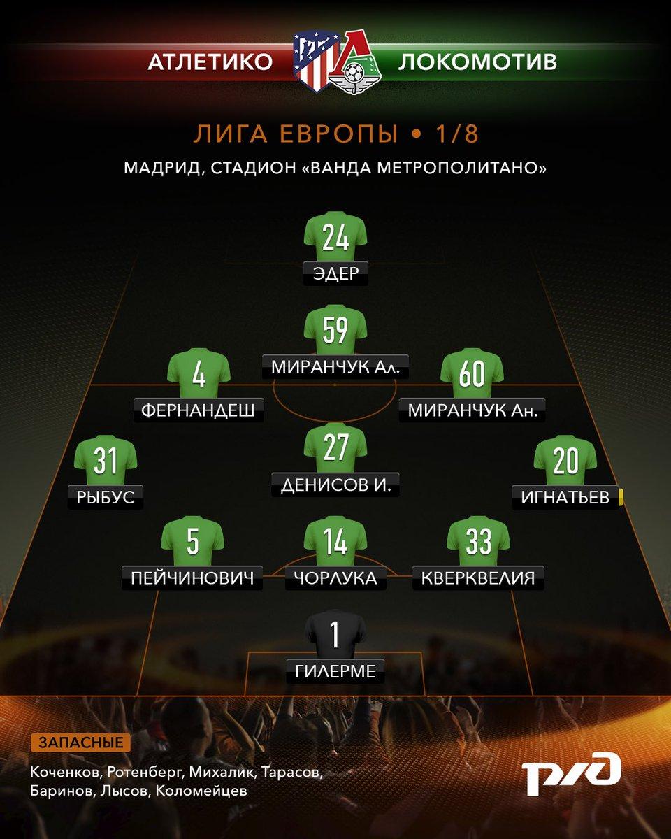 Лига Европы: «Атлетико» - «Локомотив».