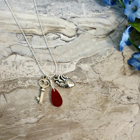 Rhonda K On Twitter Anatomical Heart Necklace Heart Necklace