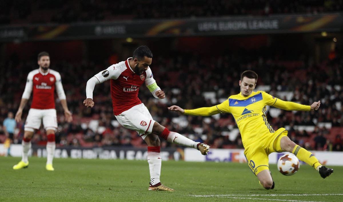 Theo Walcott and Olivier Giroud are still Arsenals leading scorers in the Europa League with three each telegraph.co.uk/football/2018/…