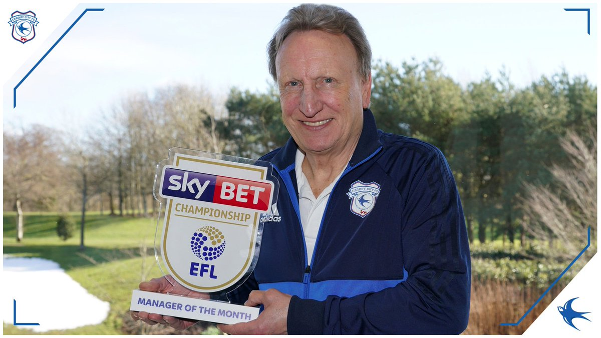 Neil Warnock has been named @EFLs February @SkyBetChamp Manager of the Month! 👏 👉 cardiffcityfc.co.uk #CityAsOne 🔵⚽️🔵⚽️