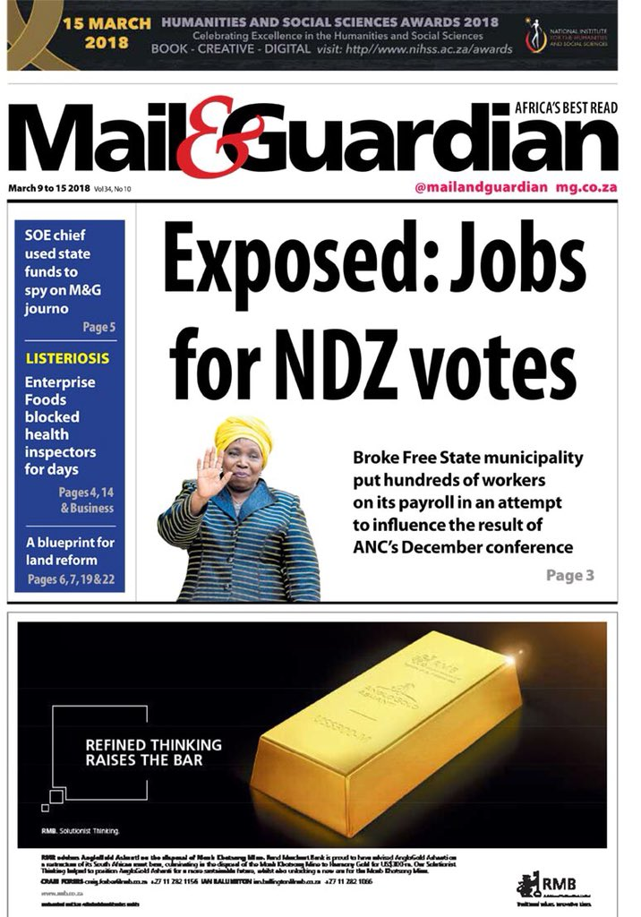 Thalia holmes thaliaholmes twitter sit up and take note of this south africa a free state municipality traded nasrec votes for jobs just like that vote for ndz and you have a job malvernweather Image collections