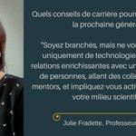 Image for the Tweet beginning: #JulieFradette Quels conseils de carrière