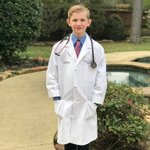 My oldest son gave a history fair presentation on Michael DeBakey today.  He rocked it, and I must say, looks darn good in that white coat. 😉  #futurephysician @TSAPhysicians @texmed