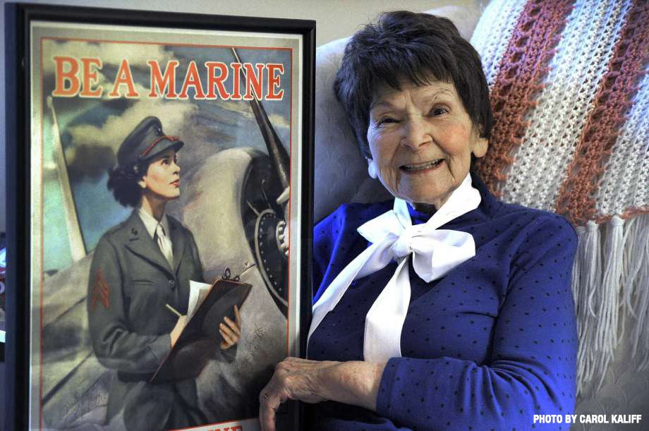 This week, Cpl Veronica Byrnes Bradley passed away.   She was the face of the Marine Corps recruiting effort during WWII.  Semper Fidelis, Marine.
