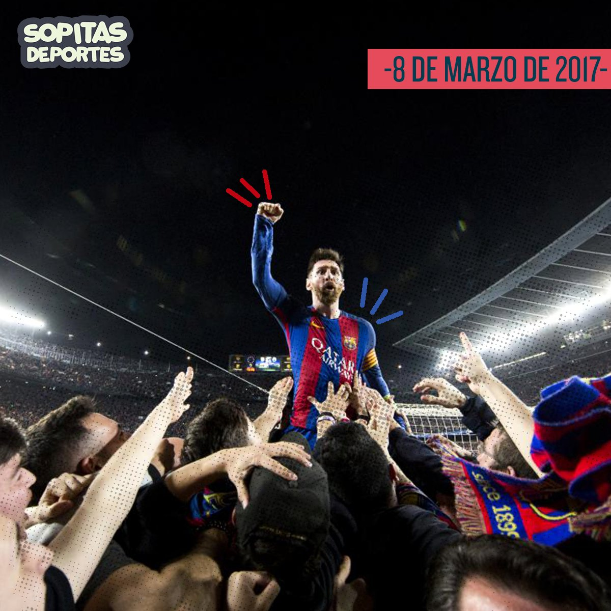 """Hace un año el Barça hizo """"LA REMONTADA"""" en la que derrotó 6-1 al PSG en la vuelta tras haber caído 4-0 en la ida #ChampionsLeague ⚽️"""