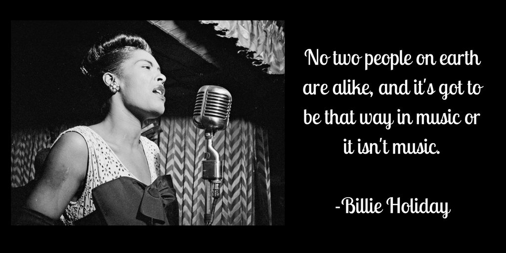 To all the incredible women icons in jazz, we thank you today, and everyday #billieholiday #internationalwomensday #femaleartists #womeninjazz #jazzpioneer #inspirationtousall