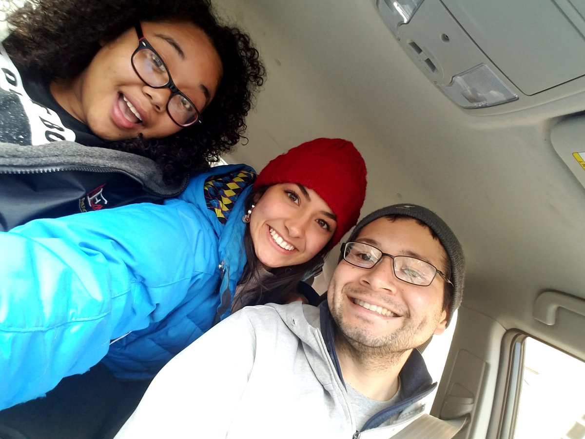 Were ready for #DPW2018! Heading to @Cornell_DPW with our visiting student, Andrea!!