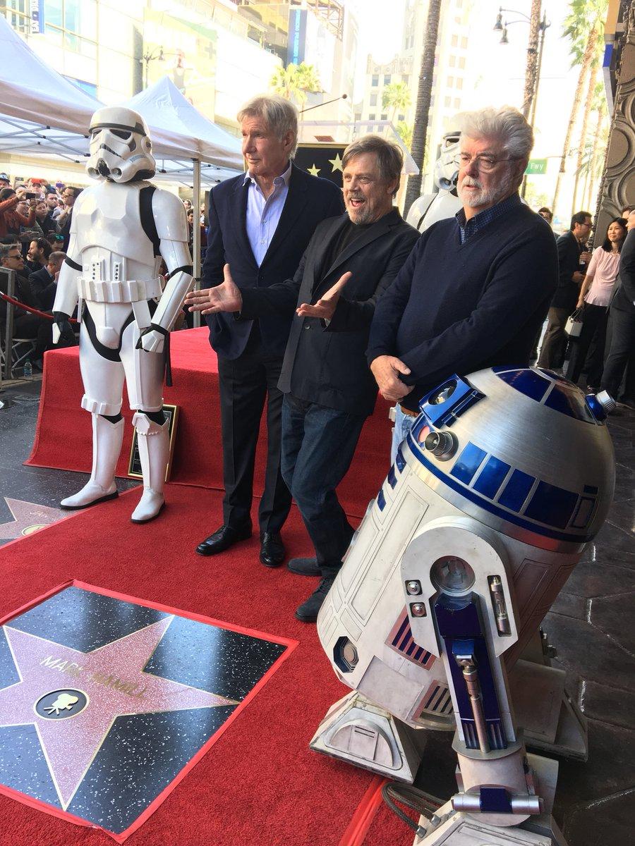 Happy #JediDay! Celebrate with us as @HamillHimself gets his star on the Walk of Fame.