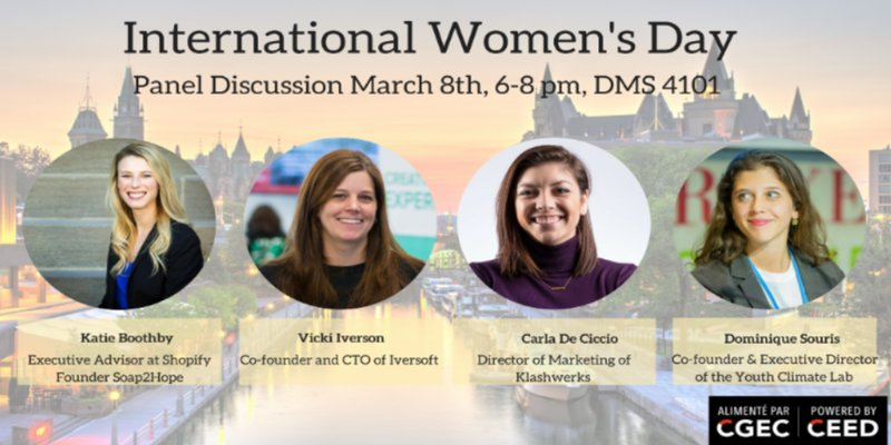 UOttawa On Twitter TONIGHT For IWD2018 Join UOttawaCEED A